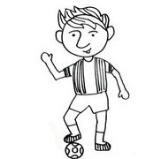 How to draw MESSI