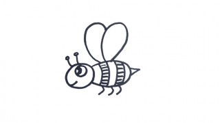 How to draw a Bee for kids