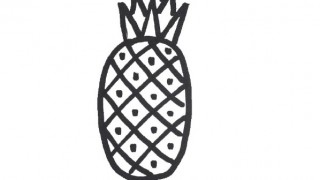How to draw a pineapple for kids