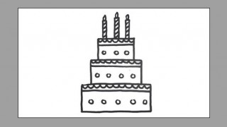 How to draw a birthday cake for kids