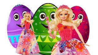 Barbie toys surprise eggs