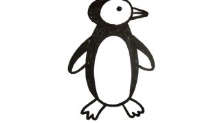 How to draw a Penguins for kids