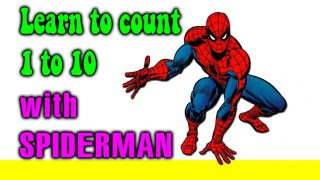 Learn to count 1 to 10 with SPIDERMAN