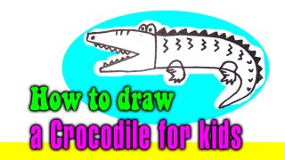 How to draw a Crocodile for kids