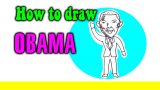 How to draw Obama for kids