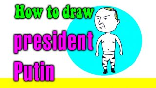 How to draw President Putin for kids