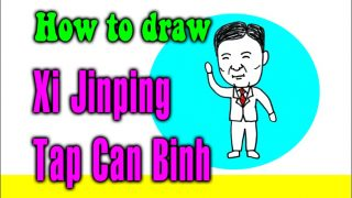 How to draw Xi Jinping