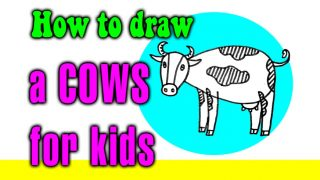 How to draw a Cows for kids