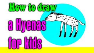How to draw a Hyenas for kids