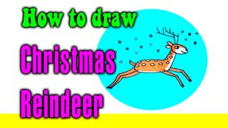 How to draw Christmas Reindeer for kids
