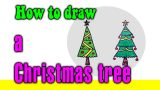 How to draw a Christmas tree for kids – STEP BY STEP