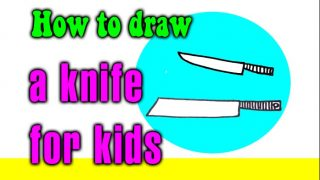 How to draw a Knife for kid – STEP BY STEP