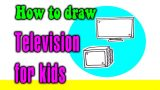 How to draw a TV for kids step by step