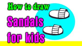 How to draw a Sandals for kids