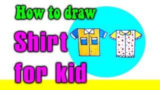 How to draw a Shirt for kids
