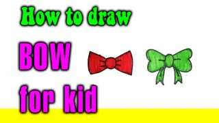 How to draw a BOW for kid