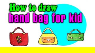 How to draw a hand bag for kid