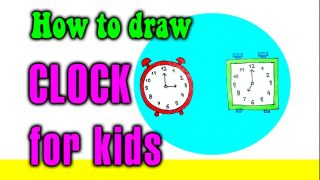 How to draw a CLOCK for kids
