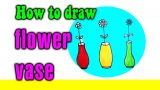 How to draw flower vase for kid