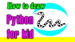 How to draw a Python for kid