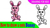 How to draw a cute bunny easy
