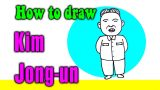 How to draw a Kim Jong-un for kid