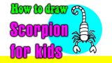 How to draw a SCORPION for kids