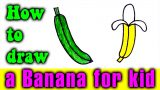 How to draw a banana easy for kids