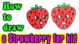 How to draw a Strawberry for kid