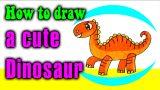 How to draw a cute Dinosaur