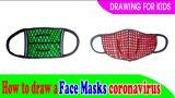 How to draw a face masks coronavirus