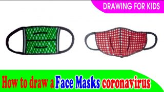 How to draw a face masks coronavirus