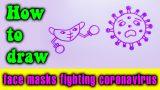 How to draw face masks fighting coronavirus