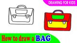 How to draw A BAG for kid