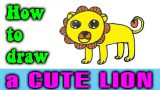 How to draw a CUTE LION step by step