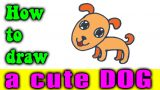 How to draw a CUTE DOG easy for kid