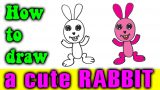 How to draw a CUTE RABBIT step by step