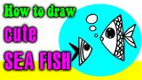 How to draw SEA FISH easy for kid