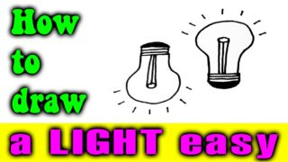How to draw a LIGHT easy very fast