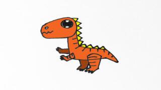 How to draw cute Tyrannosaurus