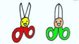 How to draw cute scissors, Hướng dẫn vẽ CÁI KÉO cute