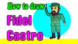 How to draw Fidel Castro for kids