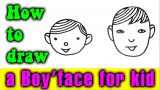 How to draw a Boy's face easy for kids